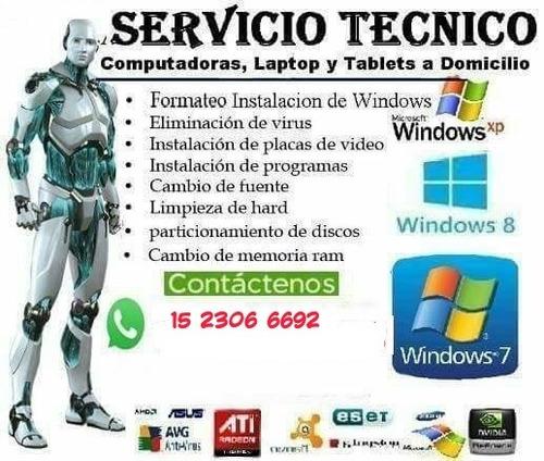 servicio técnico para pc, laptop a domicilio
