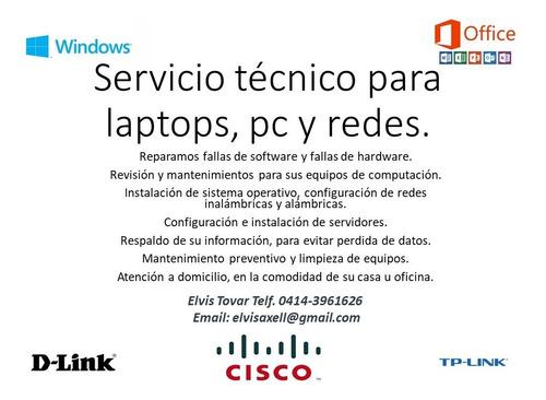 servicio técnico para pc, laptop y redes.