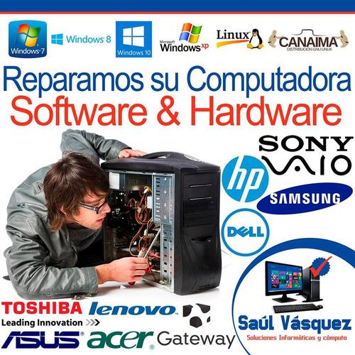 servicio técnico para pc y laptop (respaldo y formateo)