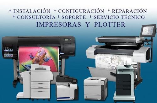 servicio tecnico, partes y piezas plotter e impresoras hp
