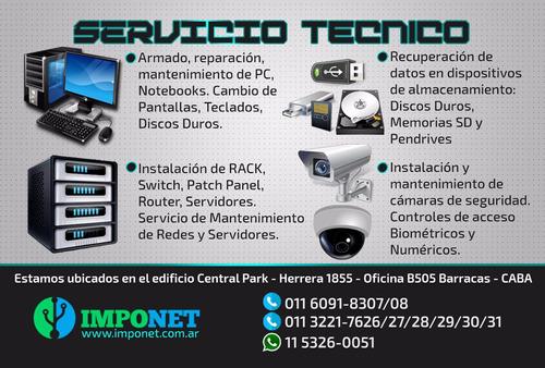 servicio tecnico pc armado reparacion instalacion windows