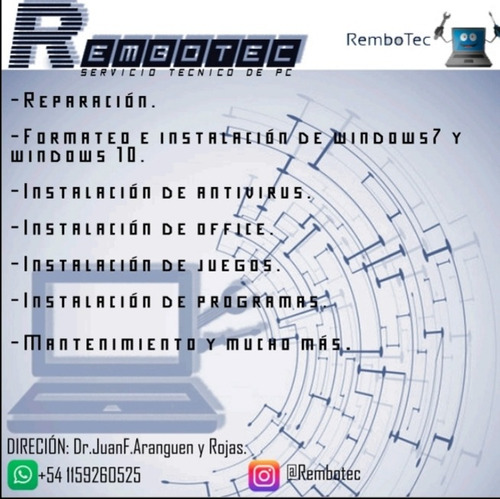 servicio tecnico pc - caballito - software - hardware