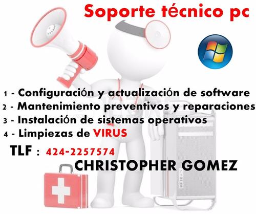 servicio técnico pc, formateo cpu, soporte técnico, caracas