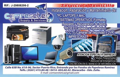 servicio técnico pc formateos respaldos camaras servidores
