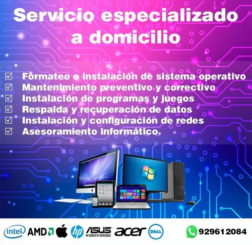 servicio técnico pc, laptop y redes a domicilio