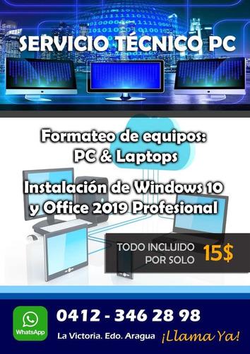 servicio técnico pc & laptops