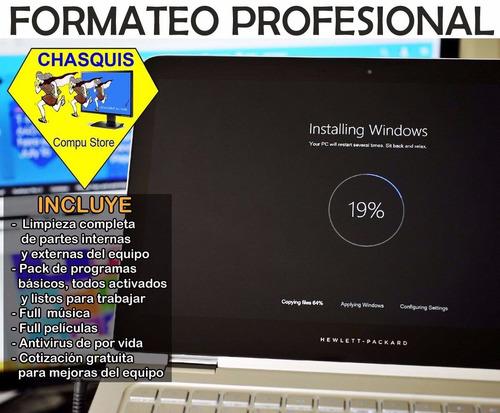 servicio tecnico pc laptops  formateo reparacion de bisagras