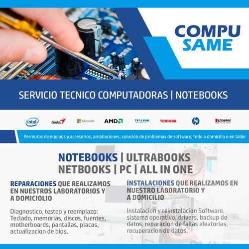 servicio tecnico pc notebook a domicilio zona boedo y alrede