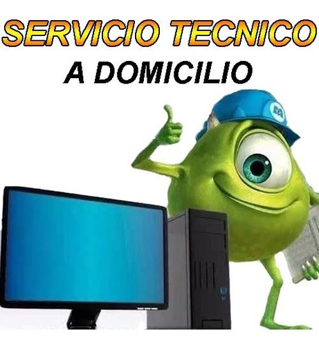 servicio tecnico pc reparacion domicilio inmediato notebook