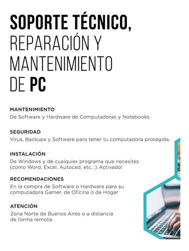 servicio técnico pc, reparación pc, armado pc gamer, soporte
