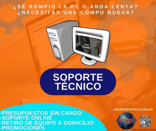 servicio tecnico pc - retiramos a domicilio gratis - c/gtia.