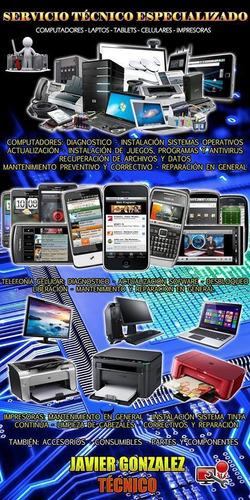 servicio técnico profesional celulares,tablet,computadores.