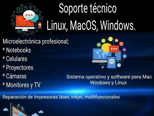 servicio tecnico profesional notebook pc macbook