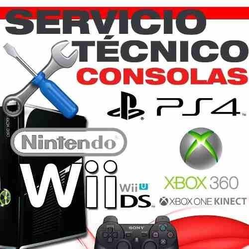 servicio tecnico ps3/ps4/ps2/psp/wii/nintendo ds/xbox360