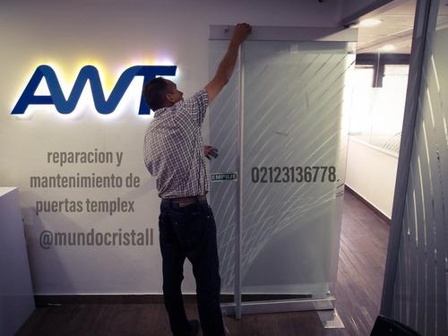 servicio tecnico puertas templex, vidrio, reparacion manten