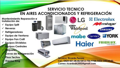servicio tecnico refrigeracion aire acondicionado y neveras