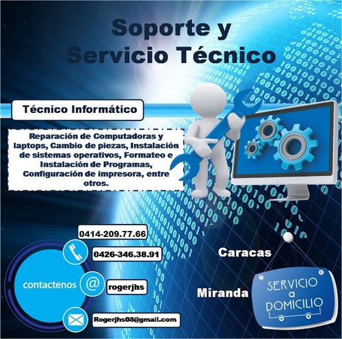 servicio técnico reparacion computadora pc red a domicilio