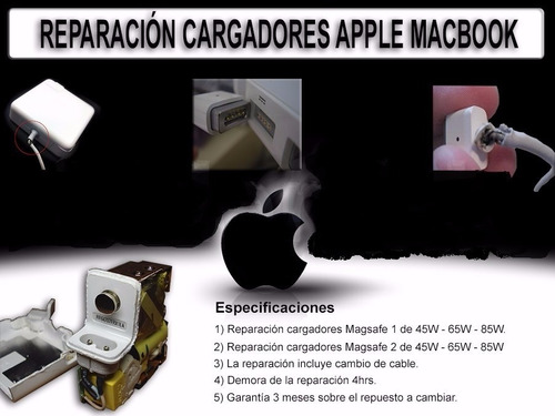 servicio tecnico  reparacion de cargadores mac  al instante