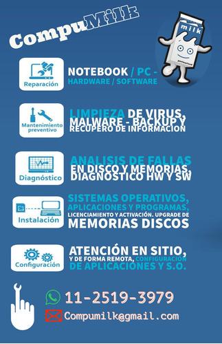 servicio técnico reparación de notebook, pc, servidores
