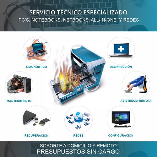 servicio técnico reparación de pc notebook redes remoto