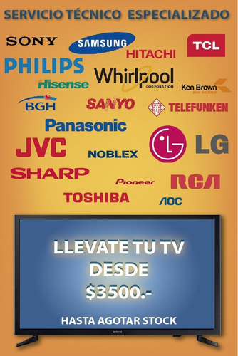 servicio técnico reparación de tv cambio de pantallas led