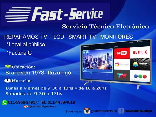 servicio técnico, reparación de tv led smart lcd