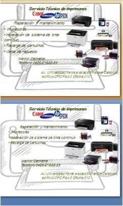 servicio tecnico reparacion epsom y hp garantia