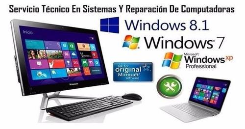 servicio técnico, reparación, mantenimiento de tu computador