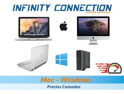 servicio tecnico reparacion mejoras para mac y windows