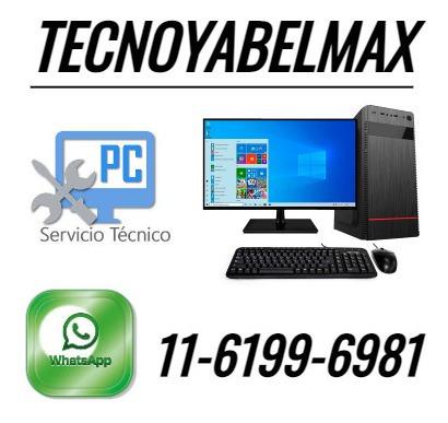servicio técnico reparacion pc instalación sistema operativo