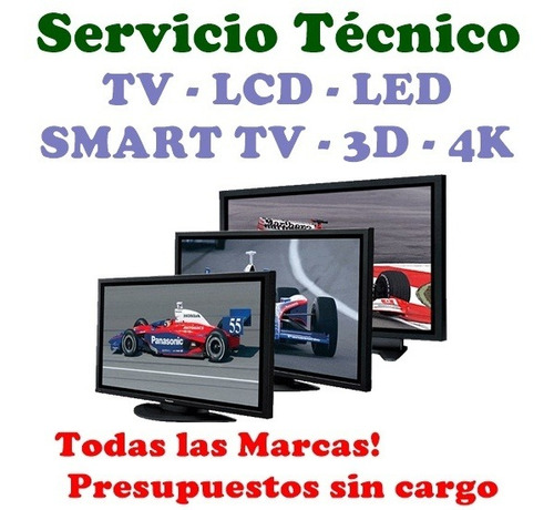 servicio técnico reparación tv led sanyo bgh samsung rca etc