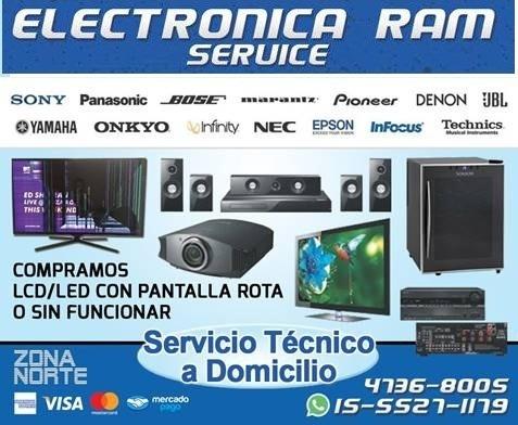 servicio tecnico reparacion tv led smart samsung lg service