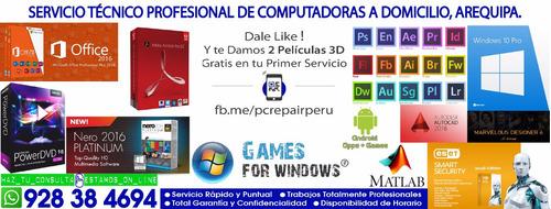 servicio técnico, reparación y mantenimiento de computadoras