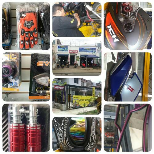servicio tecnico, repuestos, cascos, guantes, accesorios
