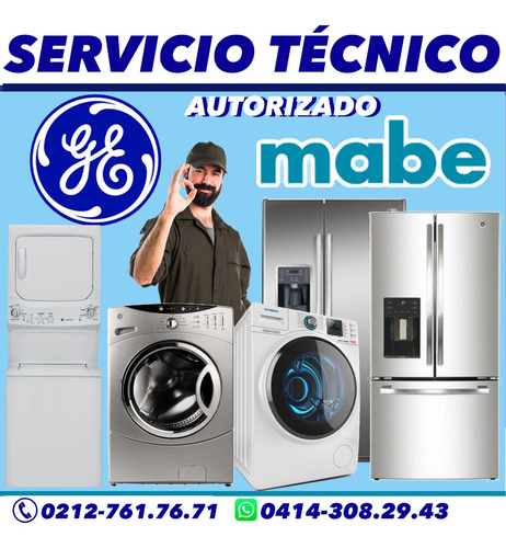servicio tecnico secadoras mabe y general electric neveras