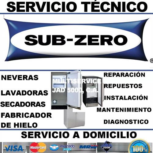 servicio tecnico subzero nevera viñera ice maker