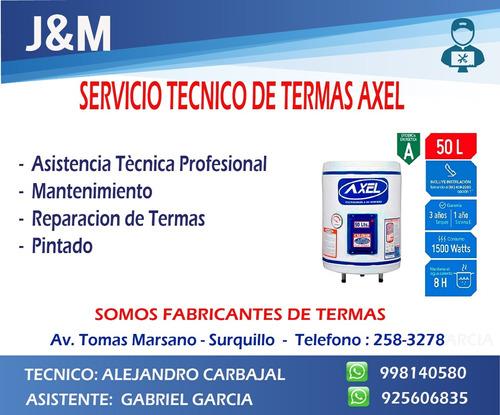 servicio tecnico termas axel 998140580