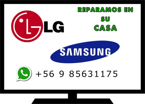 servicio tecnico tv led lg samsung, domicilio  reparacion tv