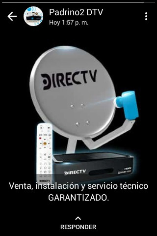 servicio tecnico, venta  e instalacion directv