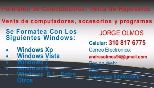 servicio técnico y mantenimiento de computadores
