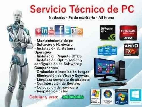 servicio tecnico y mantenimiento en computadoras