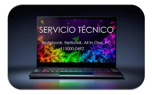 servicio técnico y reparación de notebook