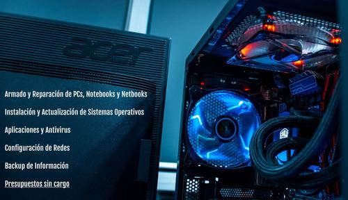 servicio técnico y reparación de pcs, notebooks y netbooks.