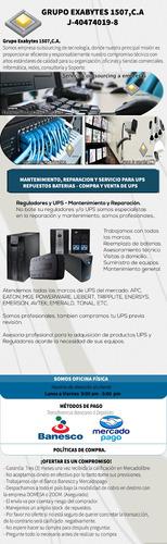 servicio técnico y reparación de ups, monitores, fuentes.