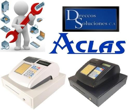 servicio tecnico y venta de cajas registradoras aclas