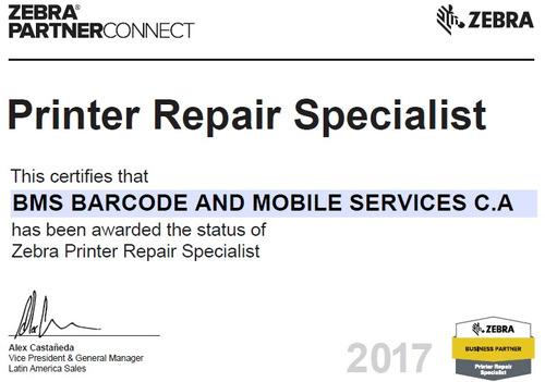 servicio técnico,generación e impresión de códigos de barra.