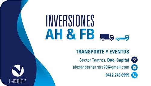servicio transporte de carga a nivel nacional.