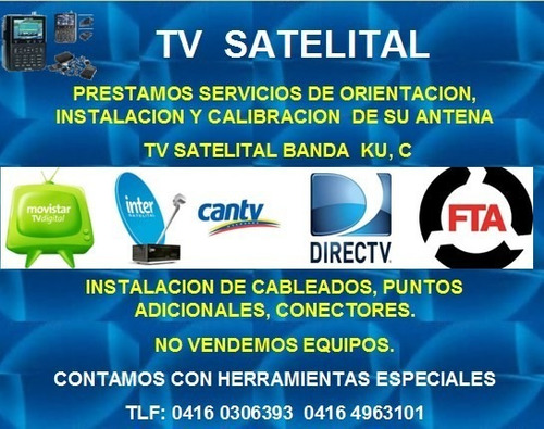 servicio tv satelital.
