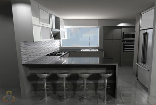 servicio y asesoria de diseño 3d de cocinas e interiores
