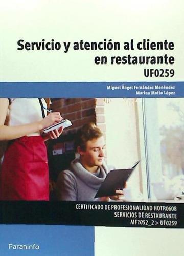 servicio y atención al cliente en restaurante. certificados